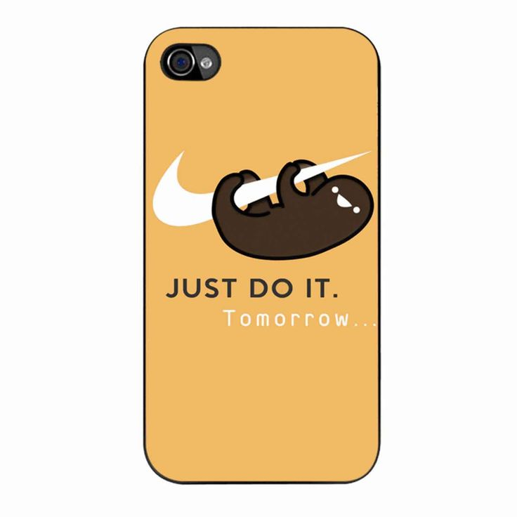 sloth iphone case sloth just do it iphone 4 4s sloths 12989