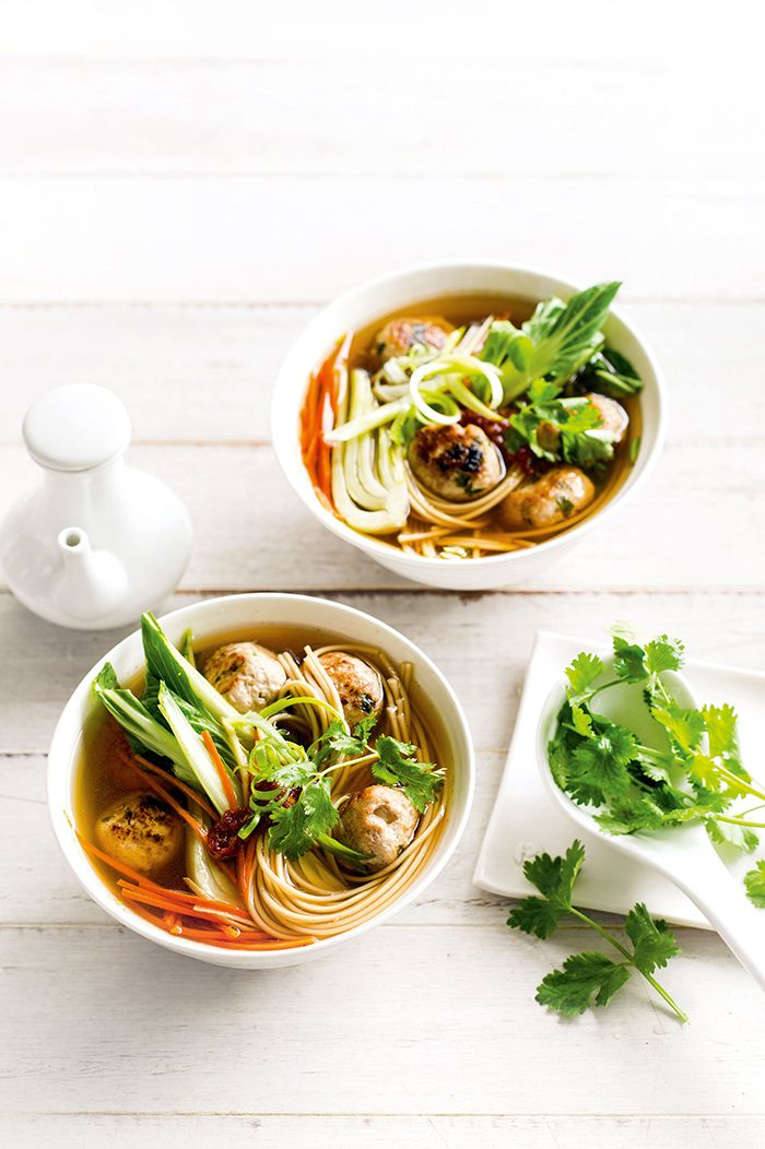 Tasty and so simple to make, this Chinese Chicken Noodle Soup with delicious chicken dumplings will warm you up from the inside.