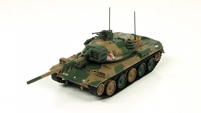 1:72 (74式戦車)  Type 74  Japanese tank 1975 main tank Fabbri model & mag №10