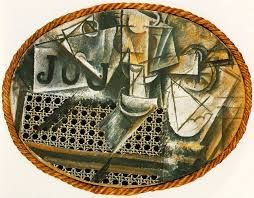 Pablo Picasso Still Life with Chair Caning (1912)