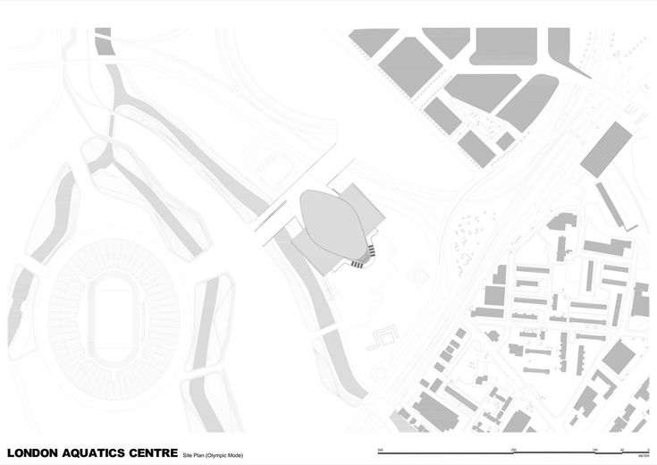 London Aquatics Centre for 2012 Summer Olympics,Site Plan (Olympic Mode)