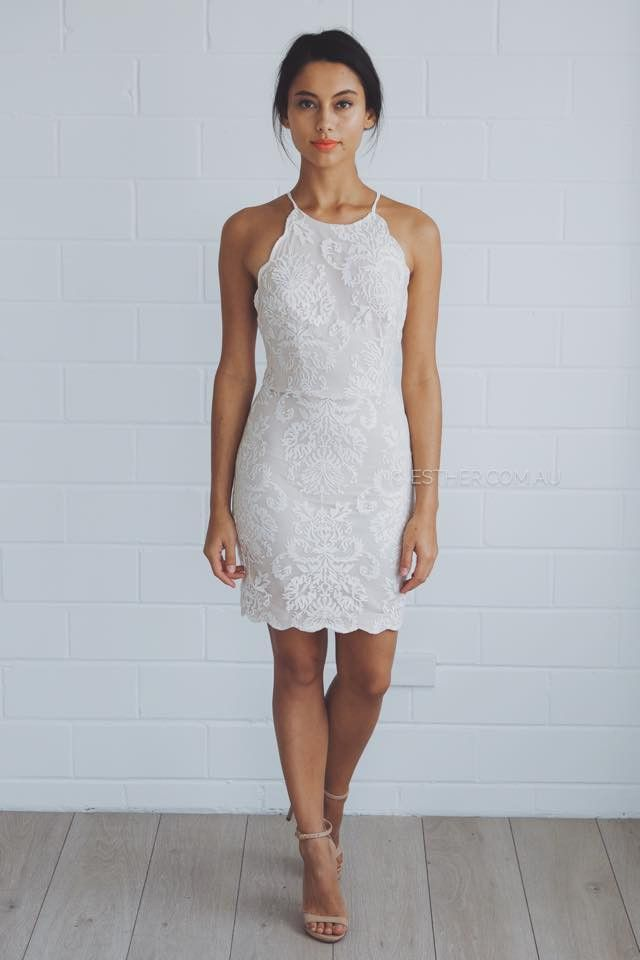 anastasia lace dress - ivory | Esther clothing Australia and America USA, boutique online ladies fashion store, shop global womens wear worldwide, designer womenswear, prom dresses, skirts, jackets, leggings, tights, leather shoes, accessories, free shipping world wide. – Esther Boutique