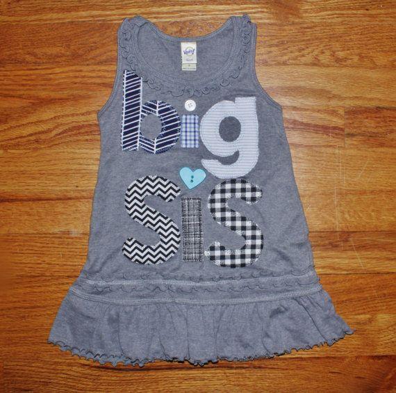 Big Sister Dress Big Sister Shirt Big Sis Shirt Big by 40WinksbyJ, $35.98