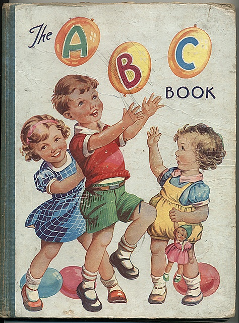 Vintage Children S Book Cover : The abc book cover pinterest vintage