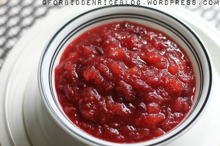 Cranberry Apple Pear Sauce. Perfect for Thanksgiving.