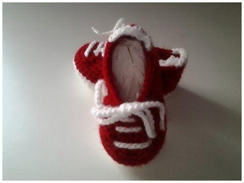Zapatillas bebe a crochet #tutorial #DIY - YouTube