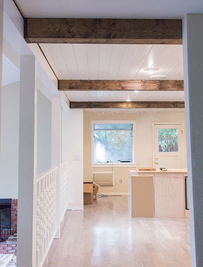 Kitchen Chronicles: DIY Wood Beams | Diy wood, Beams and Woods