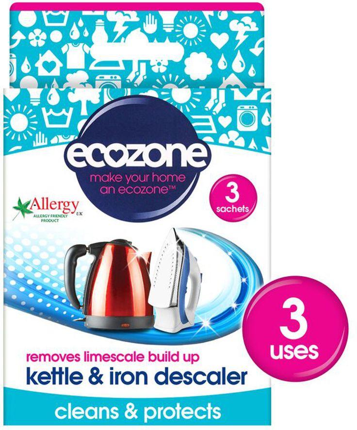 Ecozone Kettle & Iron Descaler - 3 Applications - Ecozone