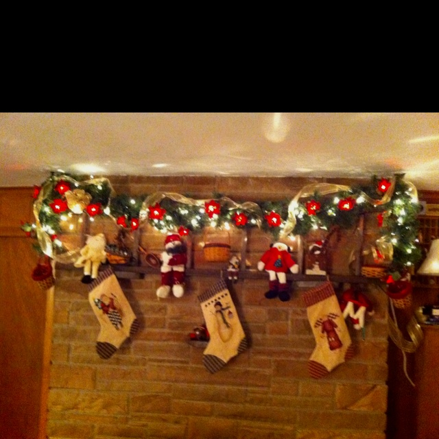 Fire place decoration for Christmas.