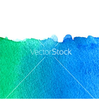 Free watercolor green and blue background vector