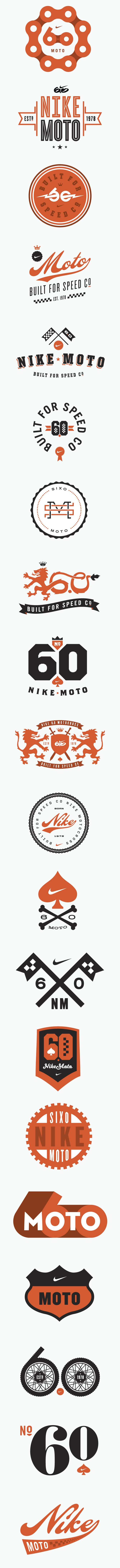 Nike 6.0 Motocross Logos bike vintage chain sports yadda yadda yadda