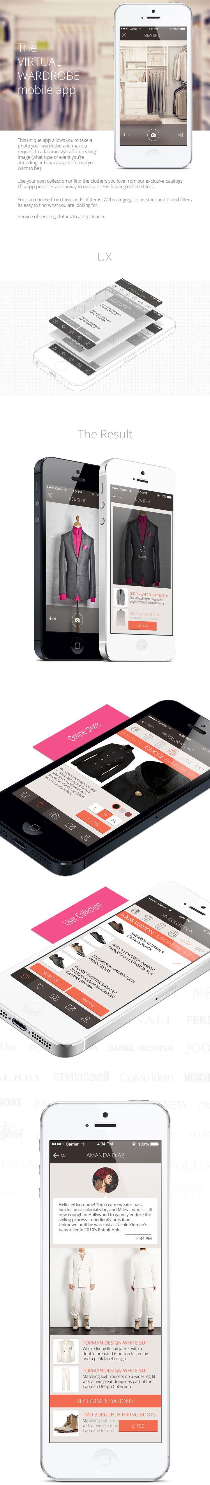 The Virtual Wardrobe mobile app