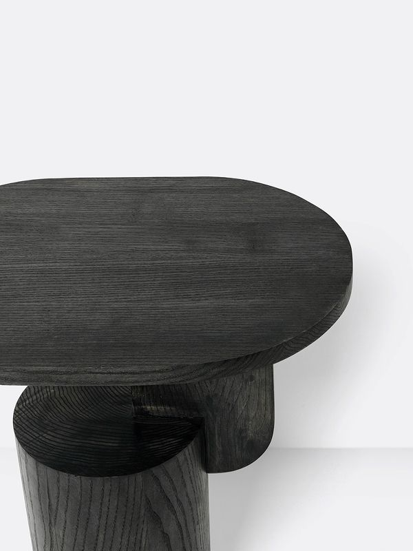 Ferm Living Insert Side Table In Black Ash Wood Side Table Coffee Table Wood Black Side Table