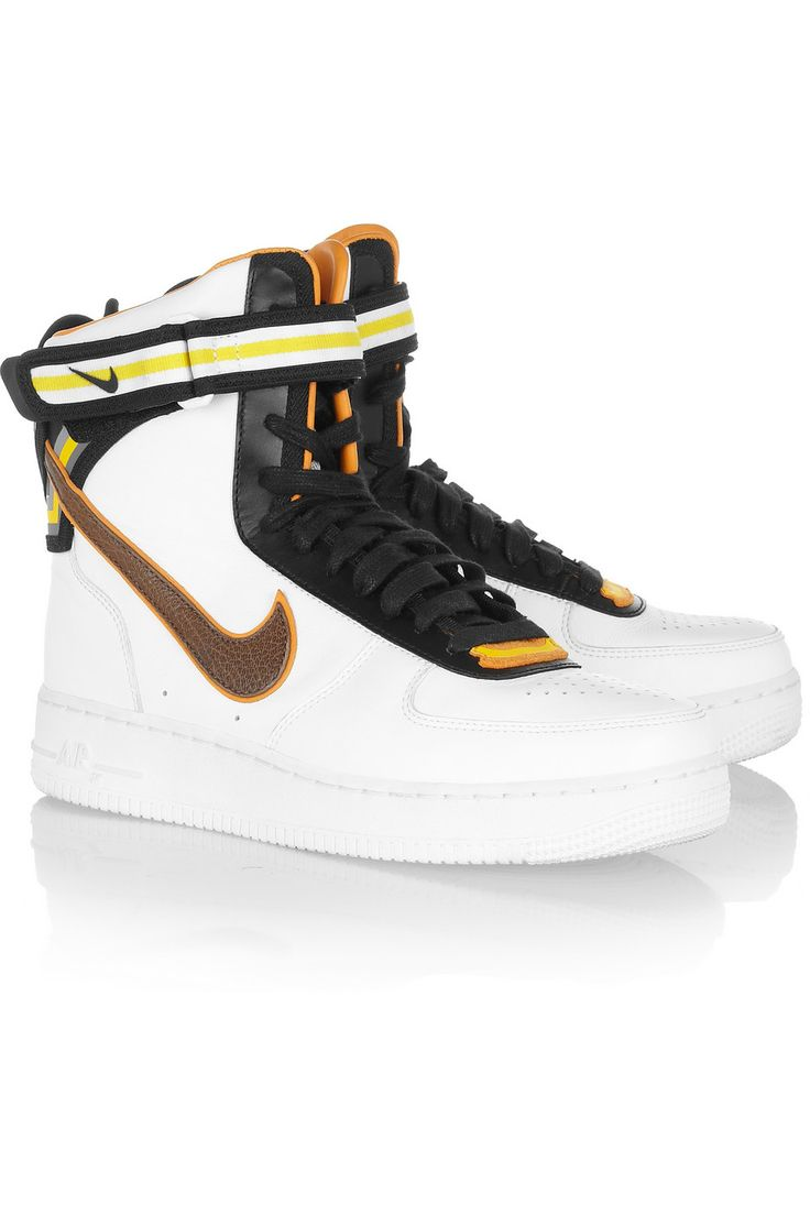 Nike + Riccardo Tisci Air Force 1 læder hi top sneakers  + Riccardo Tisci Air Force 1 leather hi top sneakers