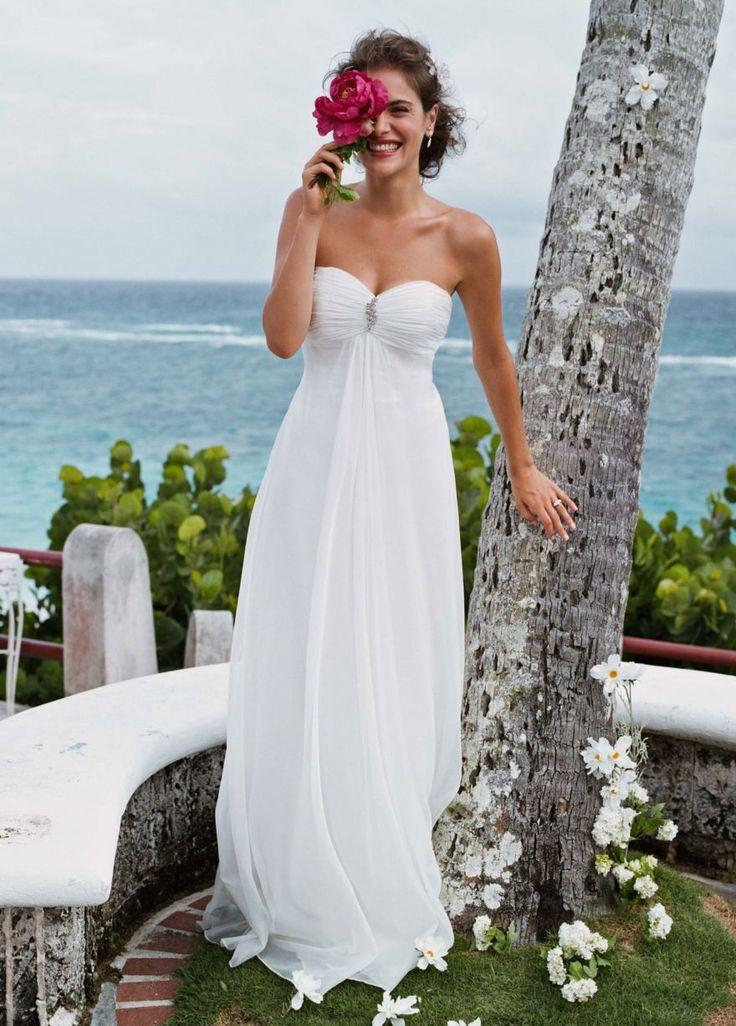 Simple wedding dresses elegant simple 2014 wedding for Beach wedding dresses simple