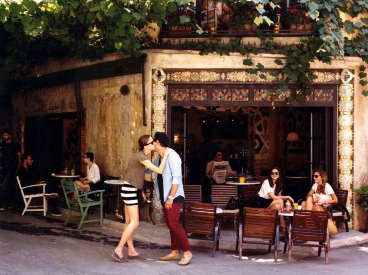 a hip café in Karakoy