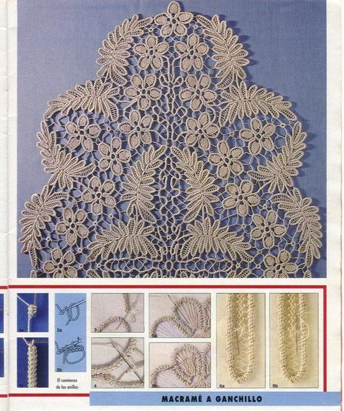 Romanian Point Lace - from the April 1992 edition of Anna Burda needlecraft magazine