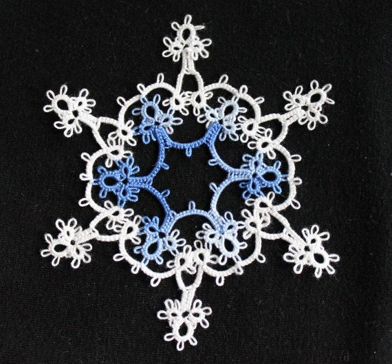 PATTERN: For SNOWFLAKE in a SNOWFLAKE Tatting by lacemakermom