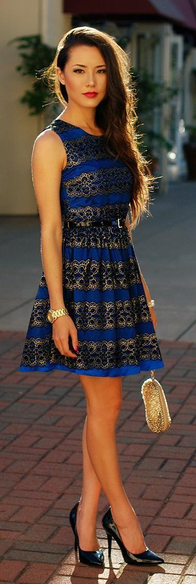 Blue Brocade♥✤   Keep Smiling   BeStayBeautiful