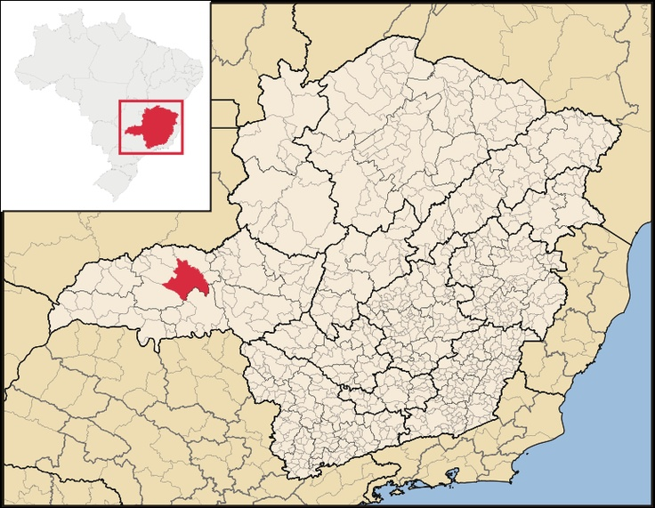 Uberlândia. mapa regional.