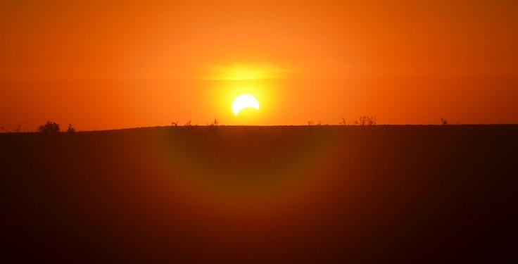 Eclipse de Sol sobre Trelew, provincia de Chubut