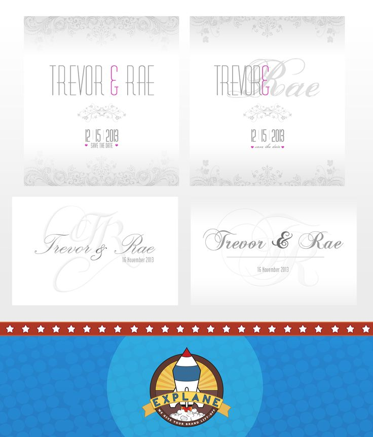 Wedding Save-the-Date Designed for Trevor & Rae { A5 Single Sided Emailer }