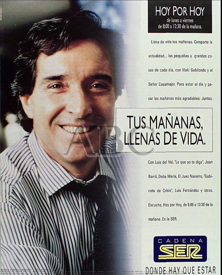 @RADIOESCUCHANTE En el año 1992 este era el anuncio publicitario de @HoyPorHoy con Iñaki Gabilondo. El eslogan de @La_SER  'Donde hay que estar'
