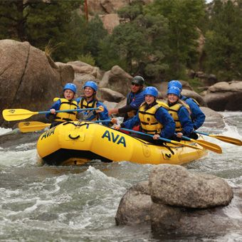 Whitewater Rafting on Clear Creek Near Denver | Half Day White Water Rafting, $89. #fathersday #fathersdayideas #fathersdaygifts
