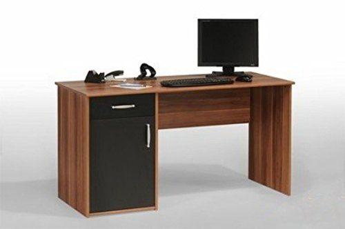 Schreibtisch Computertisch Bürotisch PC Tisch REA von MAJA nussbaum/anthrazit