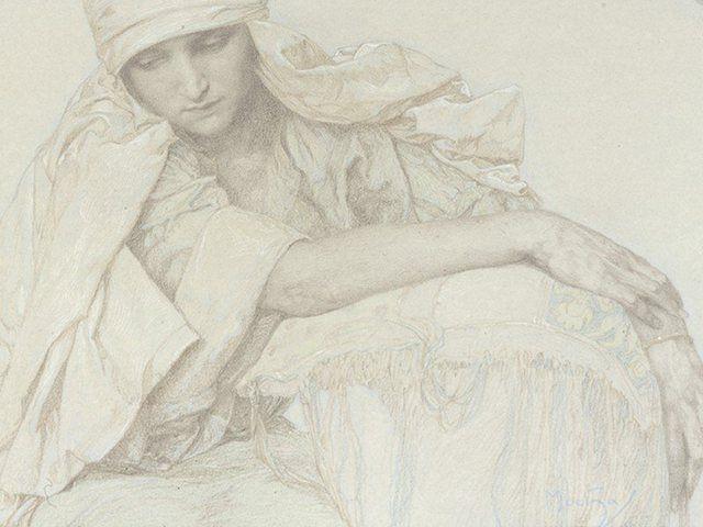 Poster, Leinwandbild »Menschen Frau Zeichnung Grau«