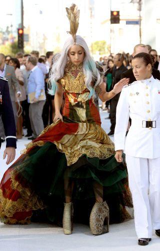 The 100 year evolution of high heels: Lady Gaga in Alexander McQueen armadillo heels, 2010