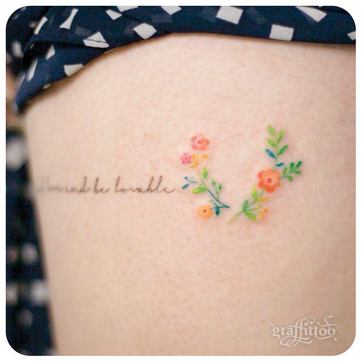 작은 꽃 타투 by 타투이스트 리버. Small flower tattoo
