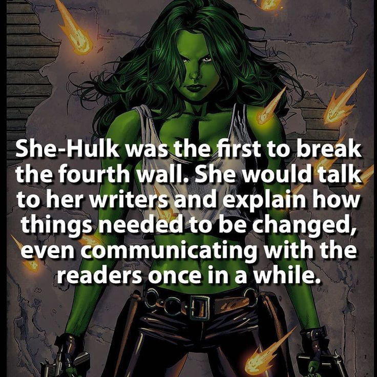 Deadpool wasn't the first and he's not the only one.    Follow @dcfact    #shehulk #Deadpool #fourthwall #marvel    by marvelousfacts