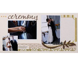 8x8 wedding scrapbook album 4x6 and 3x3 photos add blank journaling spots for the - 4x6 Photo Albums