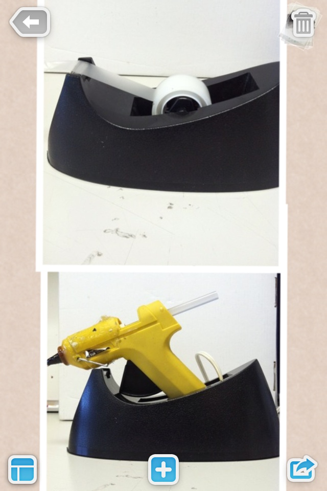 Small glue gun holder