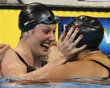 Missy Franklin and Rachel Bootsma at the Olympic Swim Trials-They're going to the Olympics!