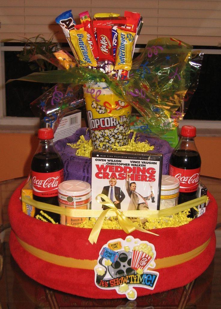 31 best birthday gift baskets for her images on pinterest movie night gift tower negle Image collections