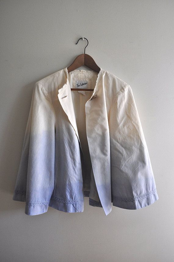 Dip dye jacket with lace detail fully lined by VintagesqueClothing, $145.00