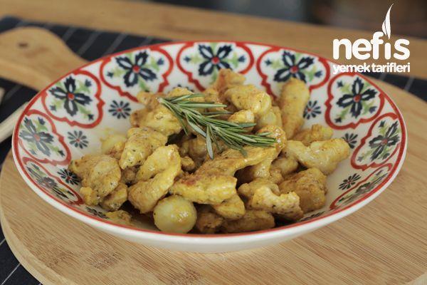 Kremalı Körili Tavuk Tarifi (Videolu Muhteşem Lezzet)