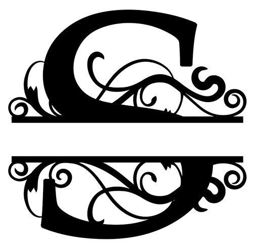 monogram letter die cut vinyl decal pv1320