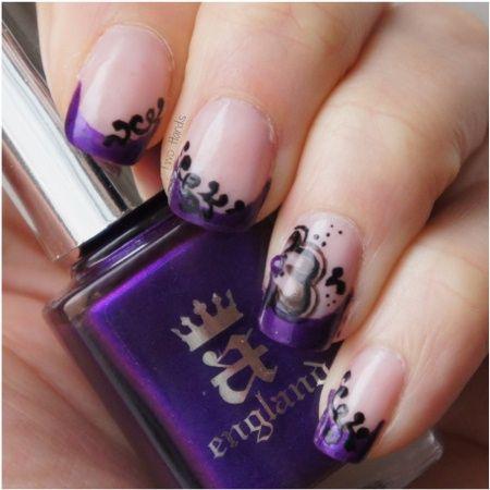 Purple french by TwoHands - Nail Art Gallery nailartgallery.nailsmag.com by Nails Magazine www.nailsmag.com #nailart