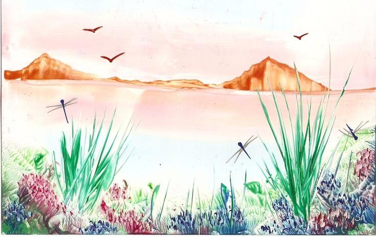 one of my encaustic paintings