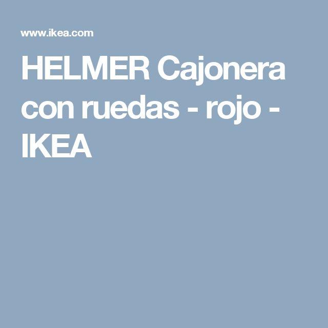 HELMER Cajonera con ruedas - rojo  - IKEA