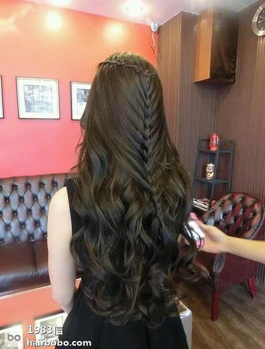 Tutorial: Mermaid braid half up hairstyle