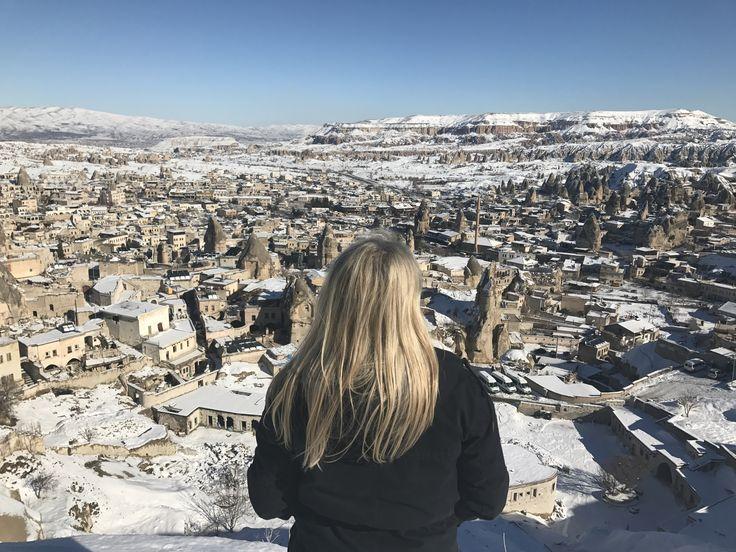 #travel #cappadocia #turkey #путешествие #девушка #каппадокия #турция #небо