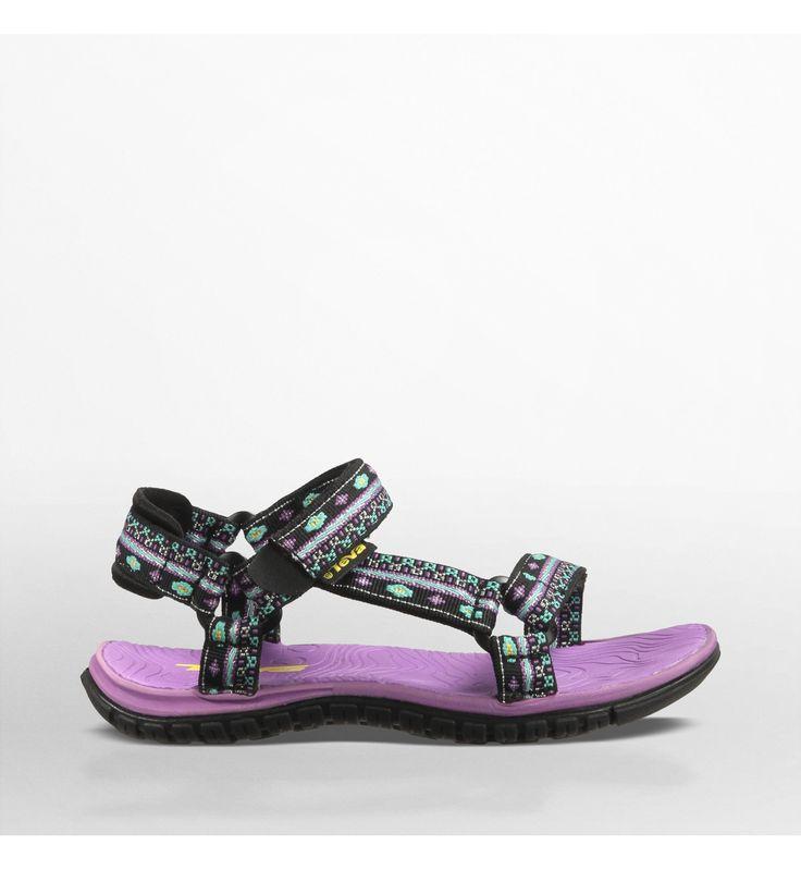 Teva Hurricane 3 sandali sportivi bambino, Hippie Black/Purple