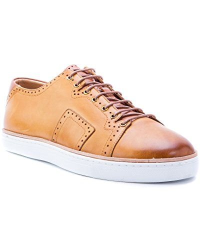 27fae0de59 Robert Graham Marti Leather Sneaker, 10. Color/material: cognac leather.  Lace-up closure. Lightly cushioned calfskin insole. Rubber sole.
