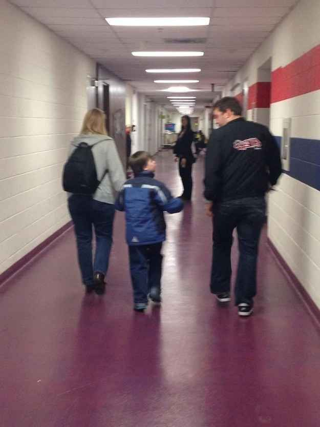 And not only did he get to see his favorite band for the first time, he also got to go backstage.
