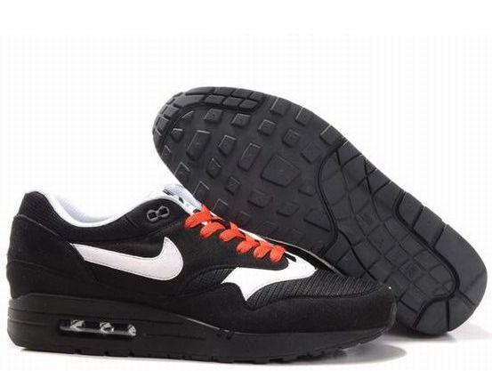 Fake Mens Nike Air Max 1 Black Sail Black Spice Shoes $42.98