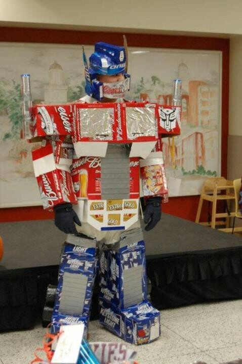Beer man super hero costume